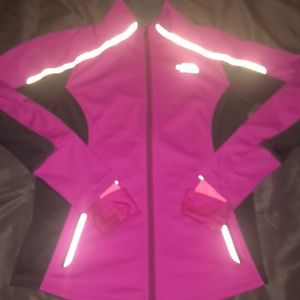 The North Face pink windstopper jacket flashdry